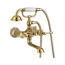 Смеситель Accoona A63105W для ванны с душем золото