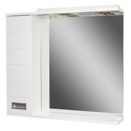 Зеркальный шкаф Cube-80 с подсветкой
