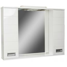 Зеркальный шкаф Cube-90 с подсветкой