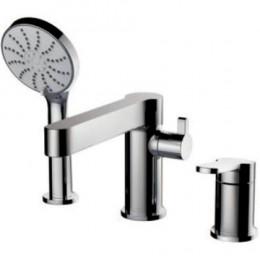 Смеситель Gappo G1199-30 на борт ванны нержавеющая сталь