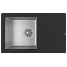 Кухонная мойка Florentina Комби-780 антрацит