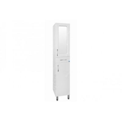 Шкаф-пенал Style Line Эко Стандарт 36 с зеркальными вставками белый