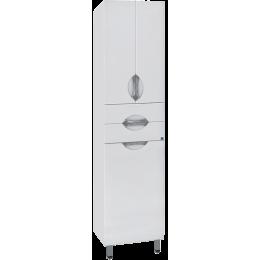 Шкаф-пенал Style Line Жасмин 48 с бельевой корзиной белый