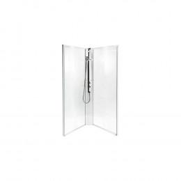 Задняя панель IDO Showerama 8-5 90x90 прозрачное стекло, белый профиль