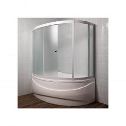 Шторка на ванну 1MarKa Catania 150 L профиль хром, стекло рифленое