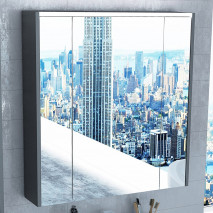 Зеркало-шкаф Roca Ronda 70 антрацит
