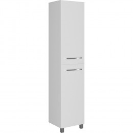 Шкаф-пенал 1MarKa Соната 35Н с 2 дверцами, белый глянец, с бельевой корзиной
