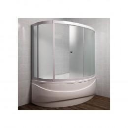 Шторка на ванну 1MarKa Catania 160 R профиль хром, стекло рифленое