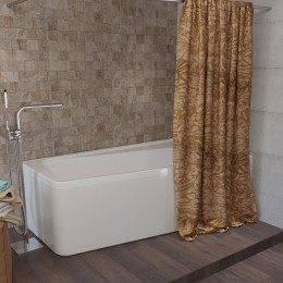 Штора для ванной Aima Design У37613 240x240, двойная, бежевая