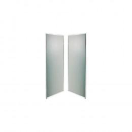 Задняя панель IDO Showerama 8-5 90x90 укороч. тонир. стекло, серебристый профиль