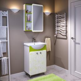 Мебель для ванной Runo Капри 55 салатовая