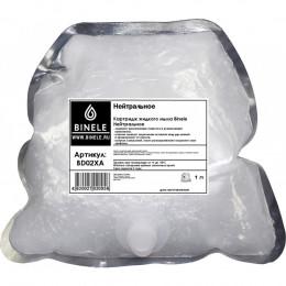Жидкое мыло Binele BD02XA нейтральное (Блок: 6 картриджей по 1 л) с помпой