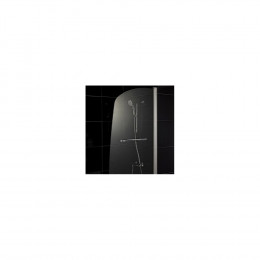 Шторка на ванну 1MarKa P-03 профиль хром, стекло прозрачное