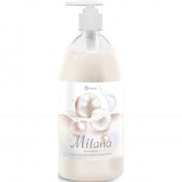 Жидкое мыло Grass Milana крем-мыло с дозатором, жемчужное, 1 л