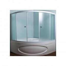 Шторка на ванну 1MarKa Afrodita 140 профиль белый, стекло рифленое