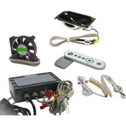 Набор комплектующих Triton с подсветкой, вентилятором, радио и пультом ДУ