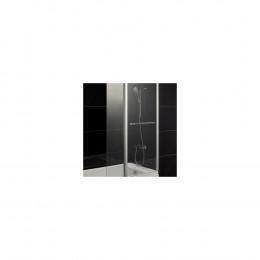 Шторка на ванну 1MarKa P-07 профиль хром, стекло прозрачное