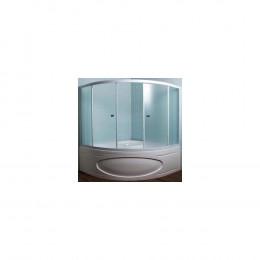 Шторка на ванну 1MarKa Luxe профиль белый, стекло рифленое