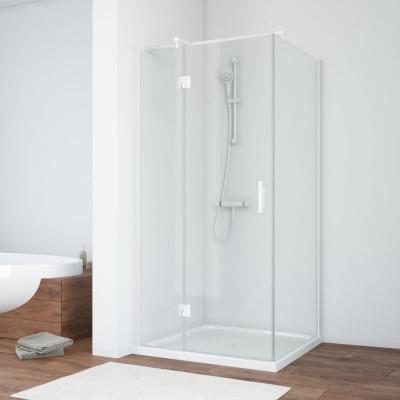 Душевой уголок Vegas Glass AFP-Fis 90*70 01 01 L профиль белый, стекло прозрачное