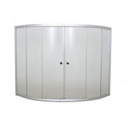 Шторка на ванну 1MarKa 160 профиль хром, стекло прозрачное
