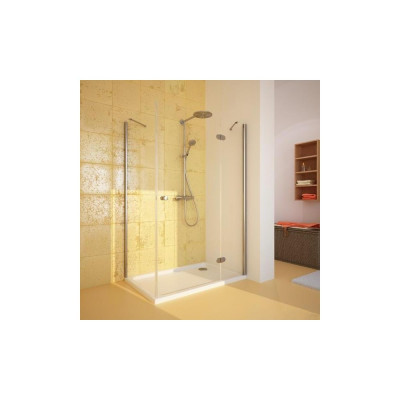 Душевой уголок GuteWetter Lux Rectan GK-103 правый 100x90 см стекло бесцветное, профиль хром
